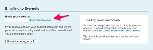Evernotemail