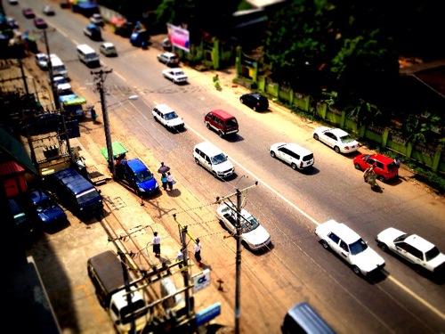 ヤンゴン市内 日本車
