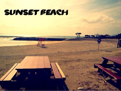 沖縄ビーチ / 北谷のサンセットビーチ