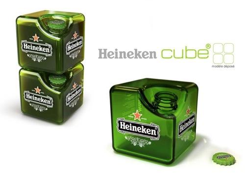 キューブ型のボトルがかっこいい「Heineken Cube」