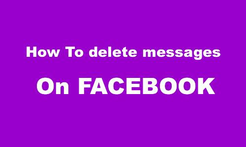 Facebook メッセージを削除する方法