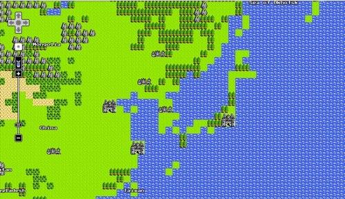 Google Mapがドラクエ風になっている件
