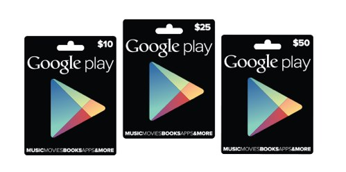 Google Playのギフトカードの発売開始