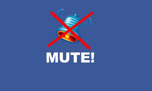 Facebookで新しいメッセージが来た時の音を消す方法