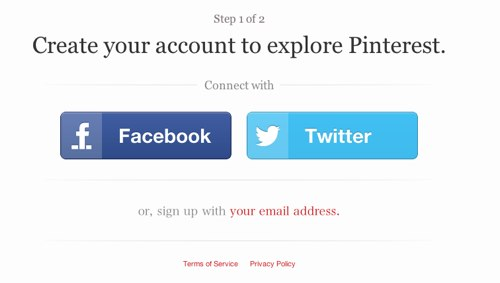 Pinterestが招待状なしでアカウントを登録できるようになりました!新しいアカウント登録方法