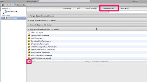 Xcode4でlibz.1.1.3.dylibライブラリが使えなくなった時の対処法