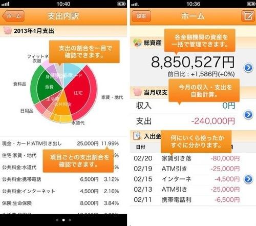 マネーフォワード iphoneアプリ