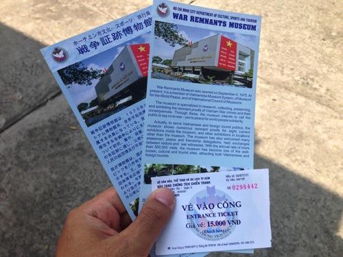 戦争証跡博物館 入場券