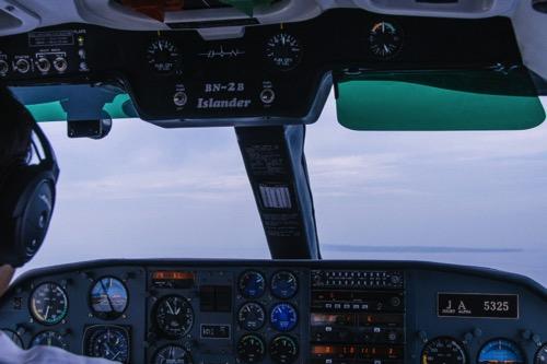 粟国島 飛行機