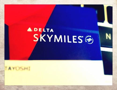 スカイマークに搭乗したらデルタ航空のスカイマイルが貯まりますよ!