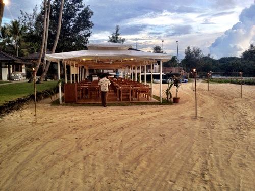 2012年パラオ旅行記 ビーチバーベキューでシーフードを堪能してきました
