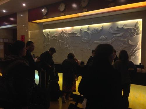 中国東方航空が遅延して、上海麗豪国際大酒店に泊まる事になった。
